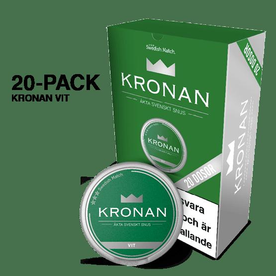 Kronan Vit Portion 20-pack