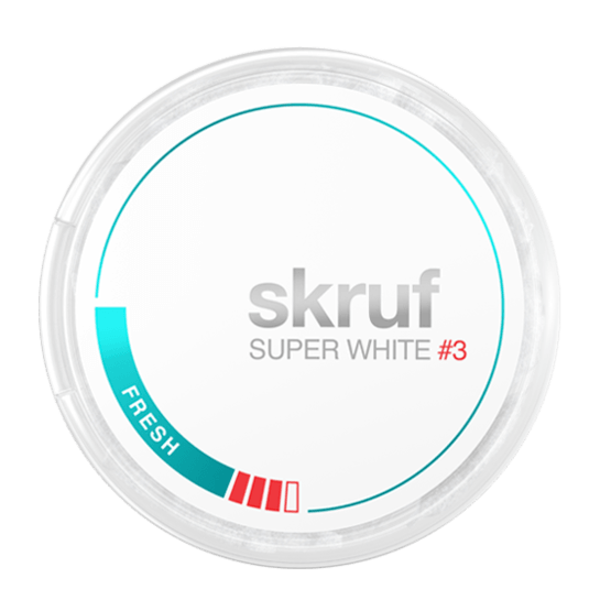Skruf Super White Slim Fresh Stark