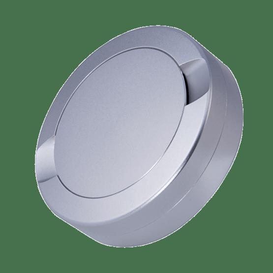 DUS Snusdosa Dubbellock Aluminium Silver