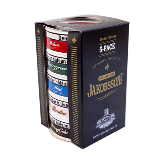 Jakobssons Mix 5-pack Stark Portionssnus