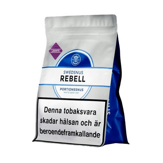 Rebell Lakrits Portion Bag - Snusa Direkt!