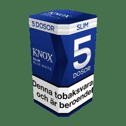 Knox Slim Blue White Portionssnus 5-pack