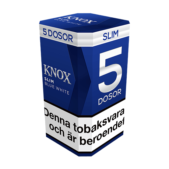 Knox Slim Blue White Portionssnus 5-pack