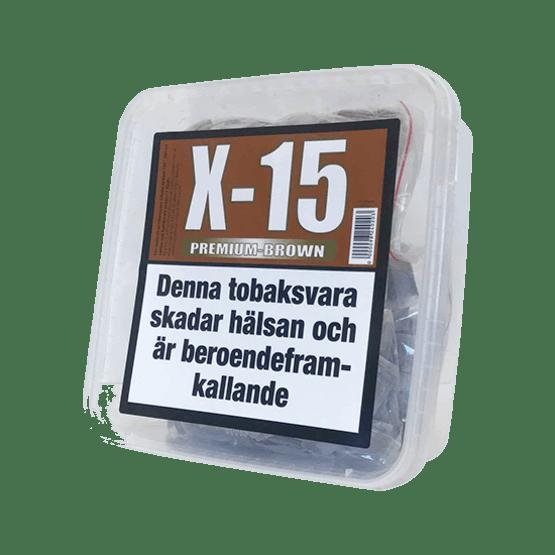 X15 Premium Brown Stark Portionssnus