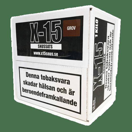 X-15 Grov Snussats Lössnus 1kg
