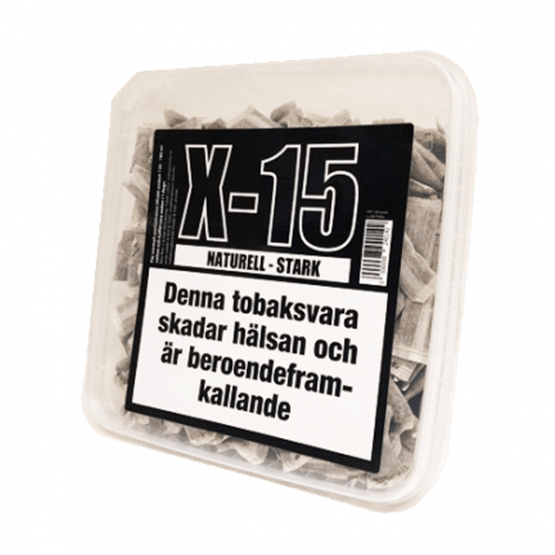 X-15 Portion Naturell Stark Snussats
