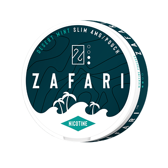 Zarari Desert Mint 4mg Slim All White Portion
