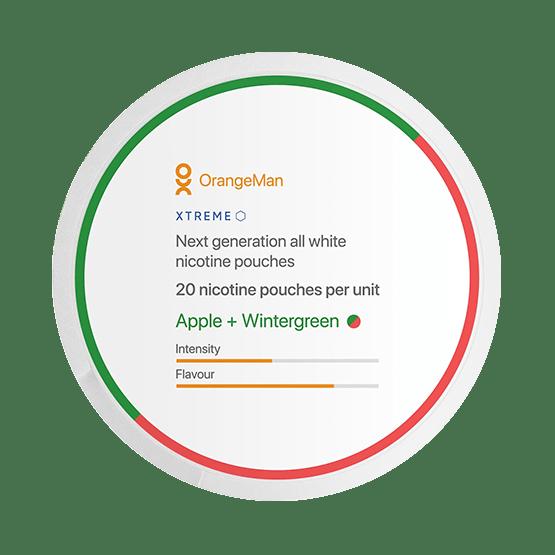 OrangeMan Apple + Wintergreen Slim Extra Strong All White Portion