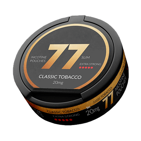 77 Classic Tobacco Slim Extra Strong All White Portion