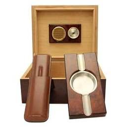 Humidorpaket med Askfat, Snoppare och Cigarretui