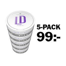 LD Salmiak Vit Portion 5-pack