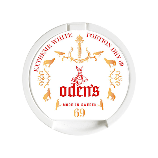 Odens 69 Extreme Portion White Dry Portionssnus
