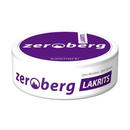 Zeroberg Lakrits Nikotinfritt snus